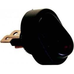 Interrupteur 12 V à bascule LED rouge pour caravane et camping-car
