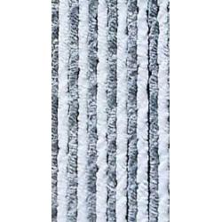 Rideau de porte chenilles gris / blanc pour caravane et camping-car