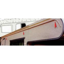 Gouttière Drip-Stop adaptable sur paroi 300 cm pour caravane et camping-car