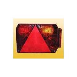 Feu RADEX 6400 droit 6 fonctions avec feu de position orange pour caravane ou remorque