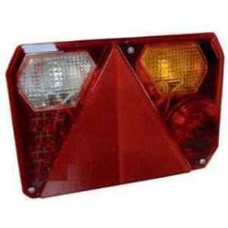 Feu RADEX 6400 droit 5 fonctions avec feu de recul et feu de position orange pour caravane ou remorque