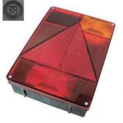Feu droit RADEX vertical 6800 5 fonctions avec feu de recul pour caravane ou remorque