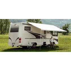 Store Thule Omnistor 9200 - manuel - boitier blanc - couleur : Saphire bleu - longueur : 4.50m pour caravane et camping-car