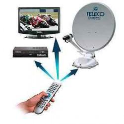 """Pack antenne FlatSat 65cm avec TV 19"""" et demo SD"""