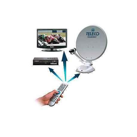 """Pack antenne FlatSat 85cm avec TV 19"""" et demo SD"""