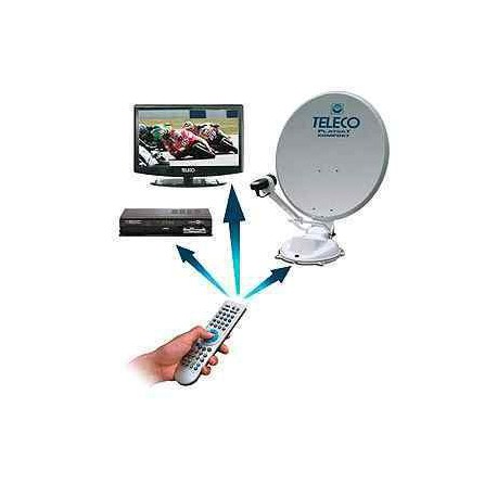 "Pack antenne FlatSat 85cm avec TV 19"" et demo HD"