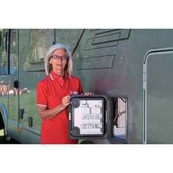 Rangement portillon blanc pour caravane et camping-car