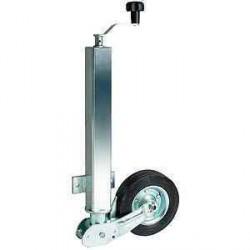 Roue jockey automatique tube carré diamètre 60mm pour caravane et remorque