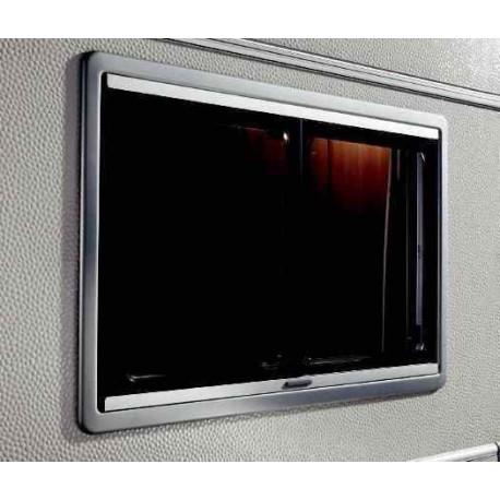 Baie vitrée coulissante cadre gris 900x500 S4 Dometic pour caravane et camping-car