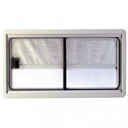 Baie vitrée coulissante grise verre sécurit 600x350 S4 Dometic pour caravane et camping-car