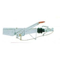 Tête d'attelage complète Al-KO 161S fixation Monopoutre carré de 100mm pour caravane et remorque