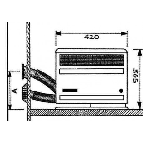 chauffage trumatic s2200 piezo gauche pour camping car. Black Bedroom Furniture Sets. Home Design Ideas