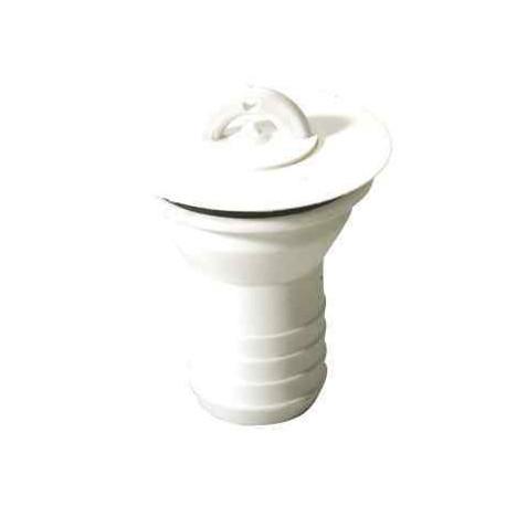 Bonde droite Ø 31mm avec bouchon sans chaînette pour tuyau Ø 25 mm