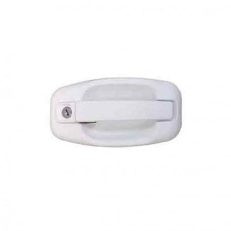 Poignée extérieure blanche de serrure de porte FAP SMART M1