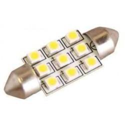 Lot de 2 ampoules navette 9 Leds C5W