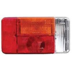 Cabochon de feu RADEX 5001 droit 5 fonctions pour caravane ou remorque