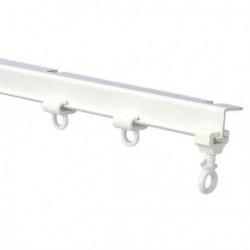 Rail de rideaux en I plastique blanc pour caravane et camping-car