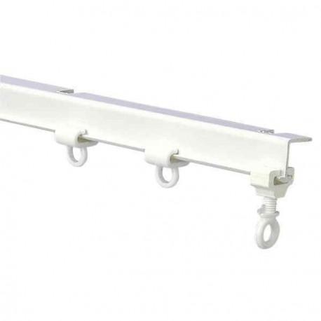 rail de rideaux en i plastique blanc pour camping car. Black Bedroom Furniture Sets. Home Design Ideas