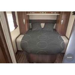 Lit tout fait ELLIPSE 140 x 190 pan coupé à droite pour caravane et camping-car