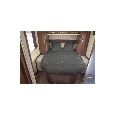 Lit tout fait ELLIPSE 140 x 190 pan coupé à gauche pour caravane et camping-car