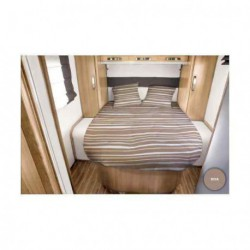 Lit tout fait RIVA 140 x 190 pan coupé à droite pour caravane et camping-car