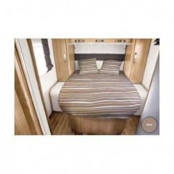 Lit tout fait RIVA 140 x 190 pan coupé à gauche pour caravane et camping-car