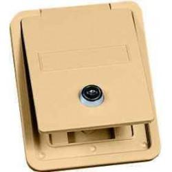 Coupelle de remplissage à clef beige pour camping car et caravane
