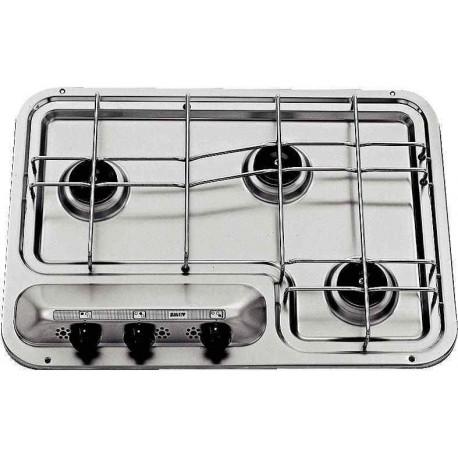 Plan de cuisson DOMETIC inox 3 brûleurs pour camping car