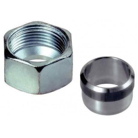 Lot de 2x Ecrou + olive diamètre 8mm pour raccord bicone