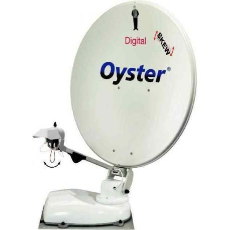 Antenne Oyster 85 Digital avec récepteur numérique, Twin-LNB et skew, hauteur 22cm, garantie 3 ans pour caravane et camping-car