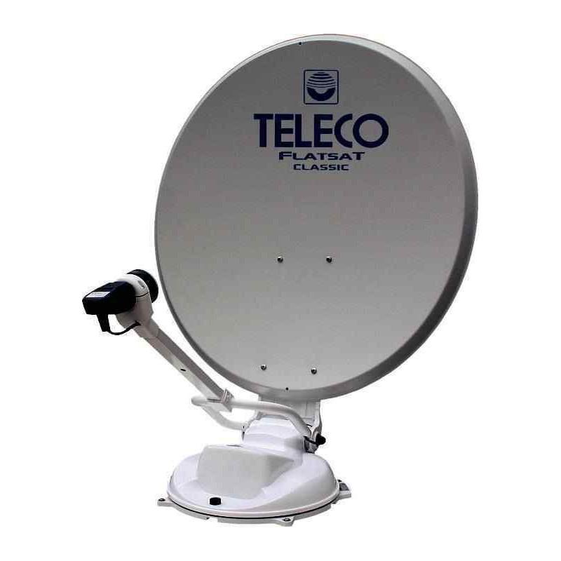 antenne teleco flatsat classic easy 65 avec d modulateur tnt par satellite pour caravane et. Black Bedroom Furniture Sets. Home Design Ideas