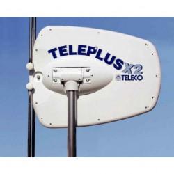 Antenne TELEPLUS x2 sur mât 165cm pour caravane et camping-car