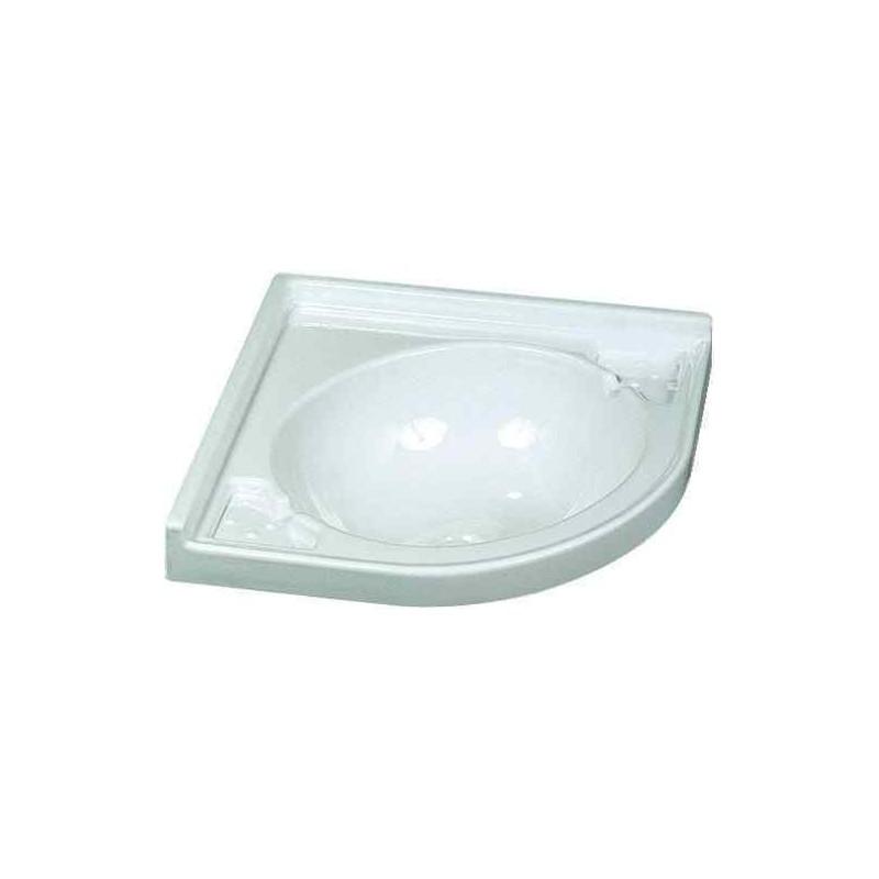 vasque blanche d 39 angle 430x430x130mm pour caravane et. Black Bedroom Furniture Sets. Home Design Ideas