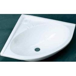 Vasque blanche d'angle 330x330x115mm pour caravane et camping-car