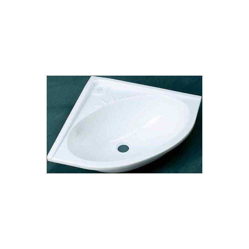 vasque blanche d 39 angle 330x330x115mm pour caravane et. Black Bedroom Furniture Sets. Home Design Ideas