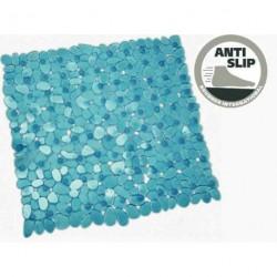 Tapis de douche anti-glisse plastique bleu marin dim. 50x50cm pour caravane et camping-car