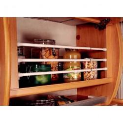 Barres anti-chutes extensibles (25.5 cm à 43 cm) pour placard ou réfrigérateur