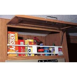 Barre double anti-chutes extensible (25.5cm à 43 cm) pour placard ou réfrigérateur pour caravane et camping-car