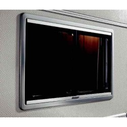 Baie vitrée coulissante cadre noir 500x450 Dometic Seitz S4 pour caravane et camping-car