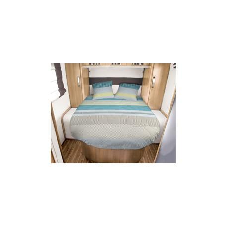 Lit tout fait JANVIK 140 x 190 coupé à droite pour caravane et camping-car