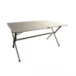 Table Clayette aluminium pour 6 personnes pour caravane et camping-car