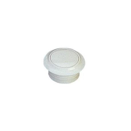 Rosace et bouton blanc pour serrure à poussoir