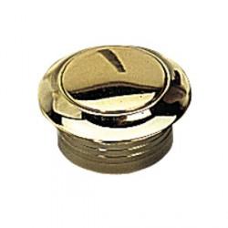 Rosace et bouton doré pour serrure à poussoir