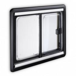 Baie coulissante cadre noir 1000x500 Dometic S4