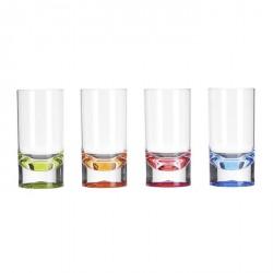 Lots de 4 verres acryliques 29cl avec pied couleur