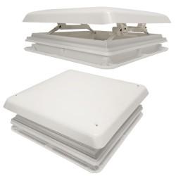Lanterneau Chantal blanc 400x400 avec moustiquaire pour camping-car et caravane