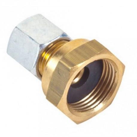 Raccord 20x150 bicone pour tuyau diamètre 8mm extérieur