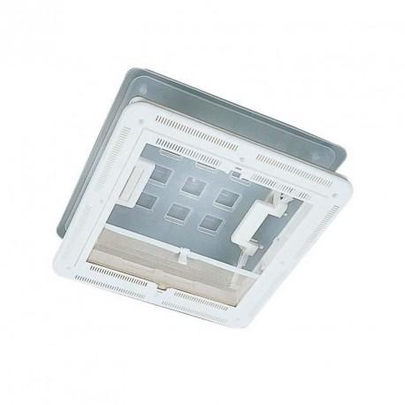 Lanterneau Chantal 400x400 couvercle translucide et cadre blanc + obturateur