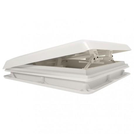 Lanterneau Chantal 400x400 couvercle et cadre blancs + obturateur