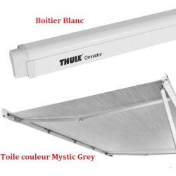 Thule Omnistor 4900 L:4,50m Boîtier blanc et toile Mystic gris